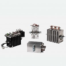 Push-pull fully controlled bridge rectifiers